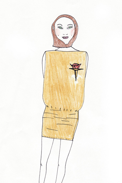 Costume  sketch for promo Stella Artois 2000